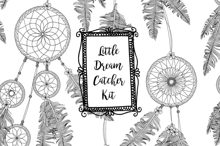 Little Dreamcatcher Kit - Hand Drawn Elements
