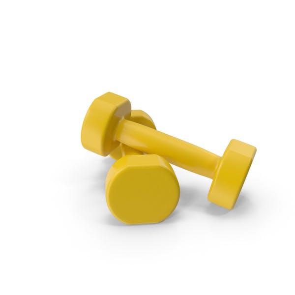 Thumbnail for yellow dumbbells