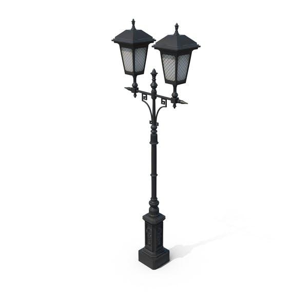 Чугунная уличная лампа