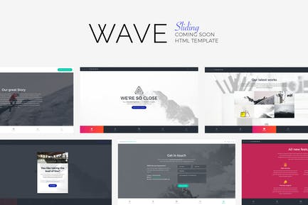 WAVE - Sliding Coming Soon Template
