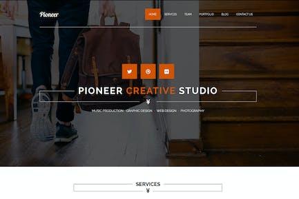 Pioneer - Plantilla MUSE de Uno Página