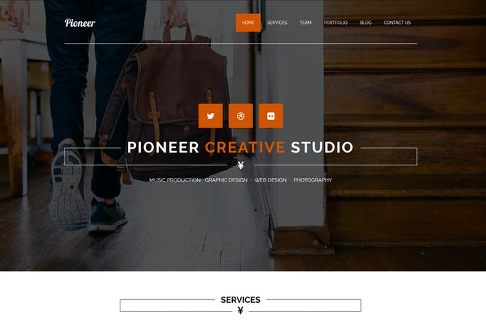 Thumbnail for Pioneer - One Page MUSE Template