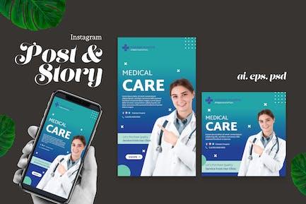 Minimal Medical Instagram Story Post
