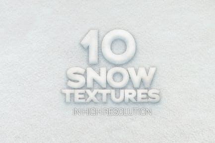 Texturas de nieve x10