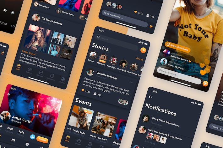 Thumbnail for Streaming Video Social Mobile UI Concept