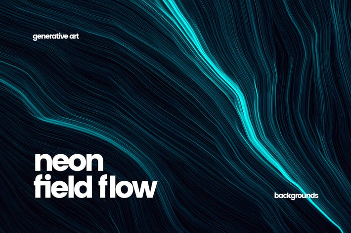 Cover Image For Neon Field Flow Backgrounds
