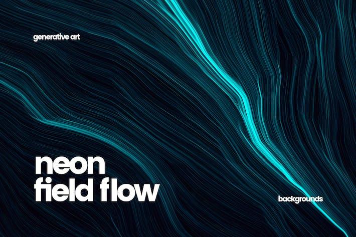 Neon Field Flow Backgrounds
