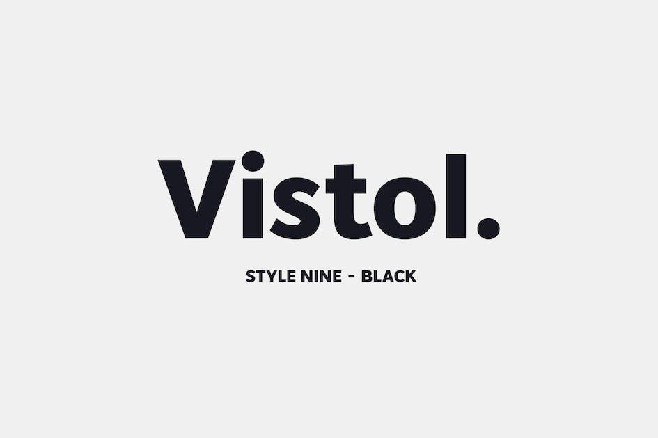 Download Vistol Sans Black Latin Pro by Siwox