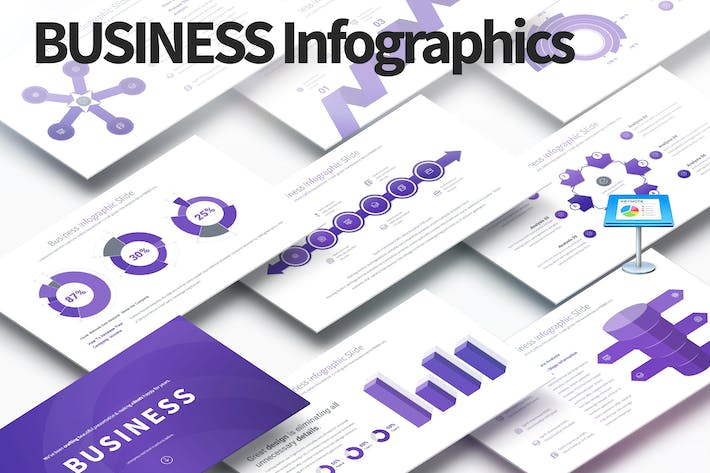 Thumbnail for Business - Keynote Infographics Slides