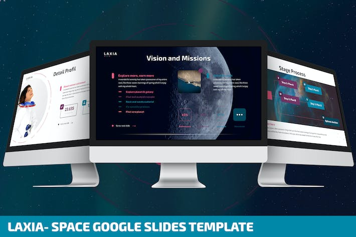 Thumbnail for Laxia - Space Google Slides Template