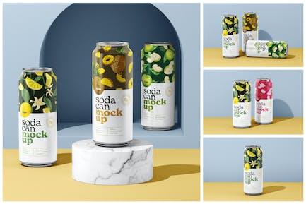 500ML Soda Can Mockup Set