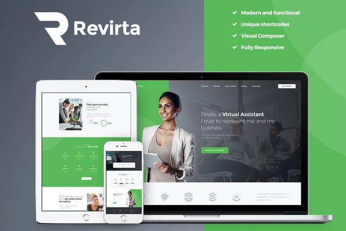 Cover Image For Revirta - Virtual Assistant WordPress Theme
