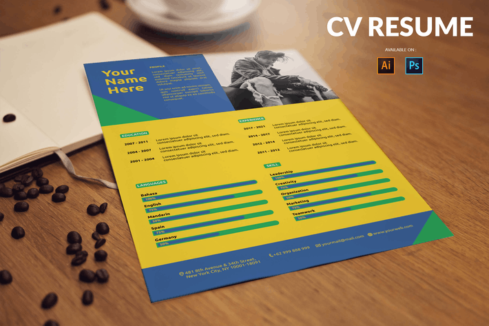 CV Resume Bold And Multicolor