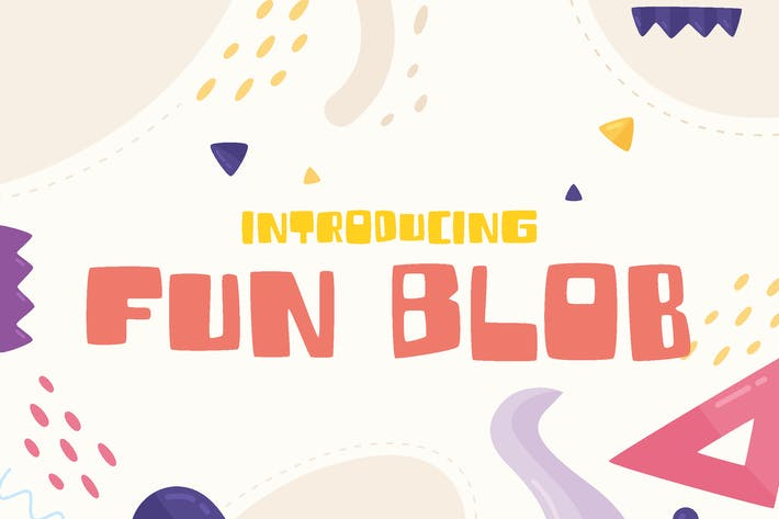 Thumbnail for Fun Blob - funny children font