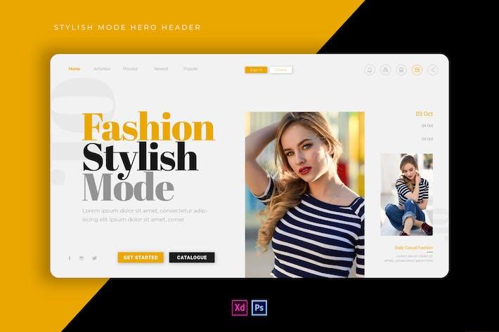 Stylish Mode | Hero Header