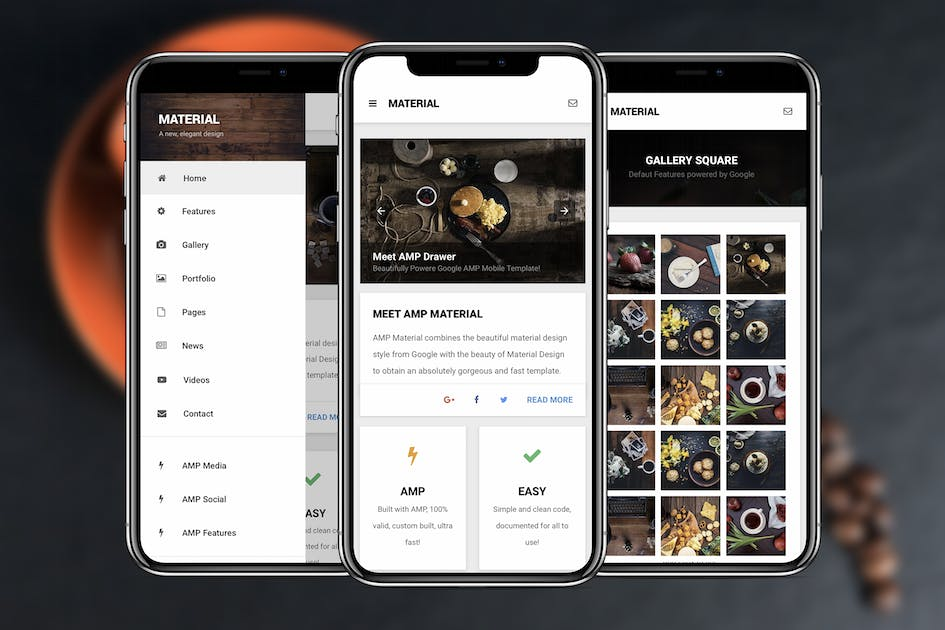 Download AMP Material | Google AMP Mobile Template by Enabled