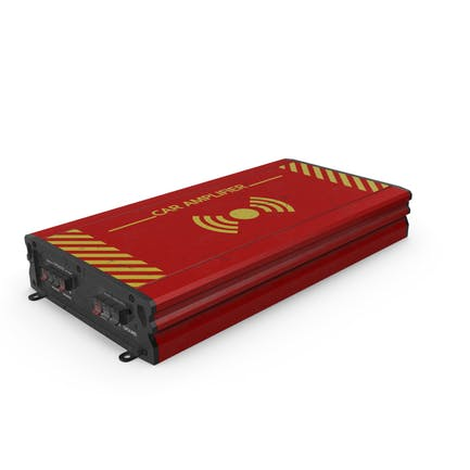 Car Amplifier Red Used