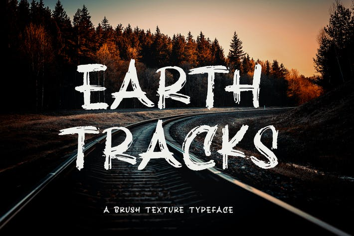 Earth Tracks - Fuente de textura de pincel