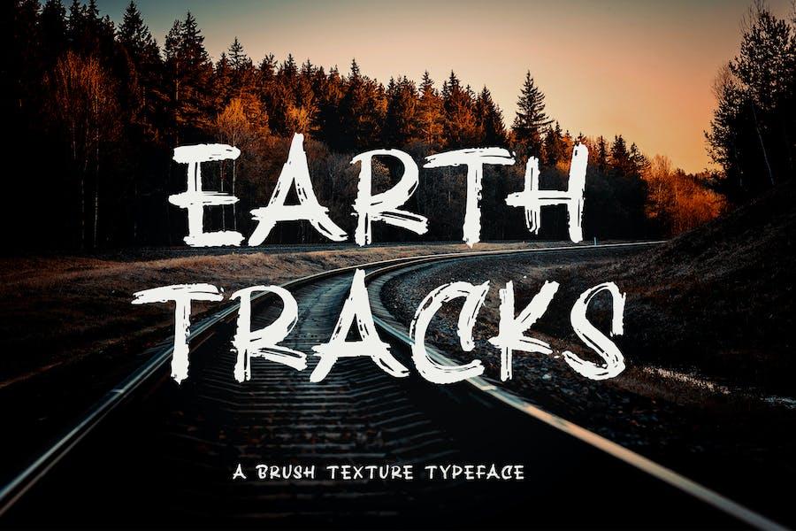 Earth Tracks - Fuente de textura de pincel