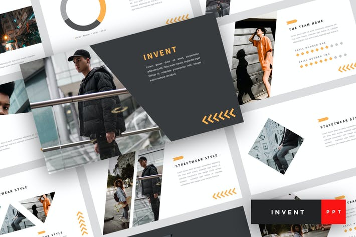 Thumbnail for Invent - Street Fashion PowerPoint Template