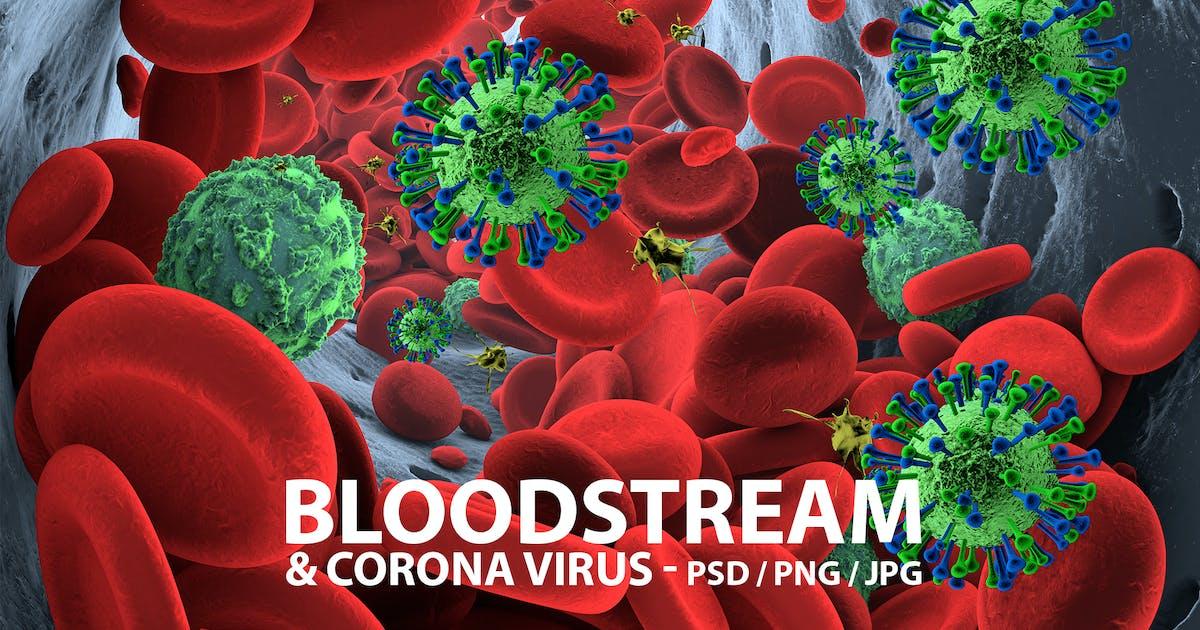 Download Bloodstream with Coronavirus by Abdelrahman_El-masry