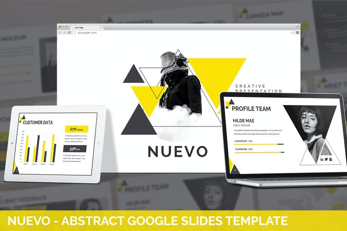 Thumbnail for Nuevo - Abstract Google Slides Template