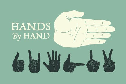 Hand Illustrated Hands and Fists