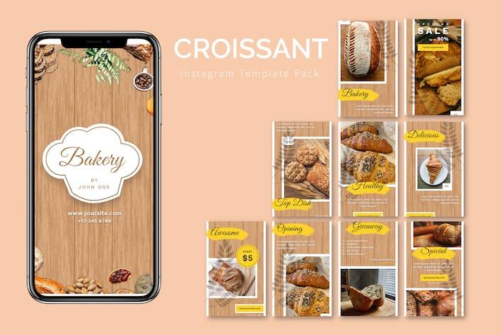 Croissant - Instagram Template Pack
