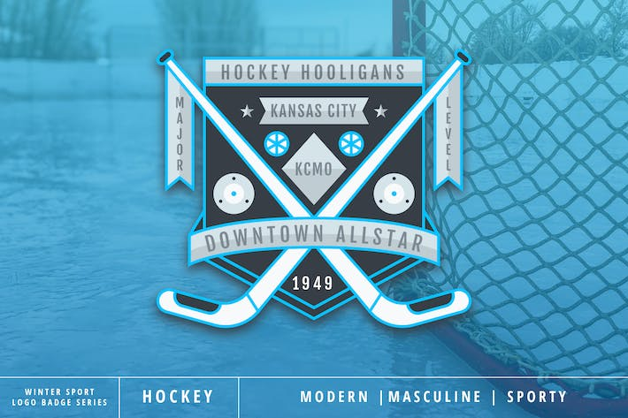 Thumbnail for Winter Sport Series: Hokey Logo Badge