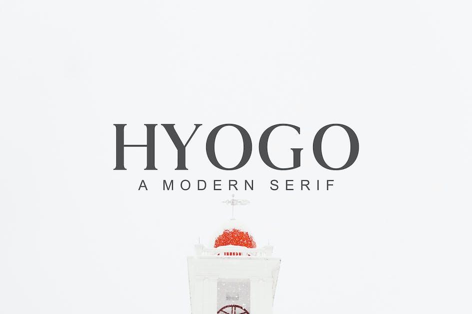 Download Hyogo A Modern Serif Font Family by creativetacos