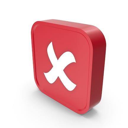 Rechteck X Button