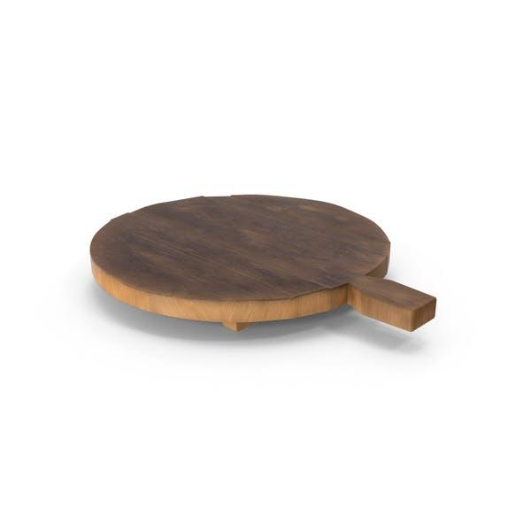 Круглый деревянный разделочный досок