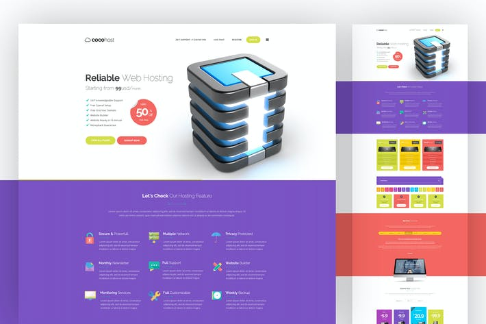 Hosting PSD Template