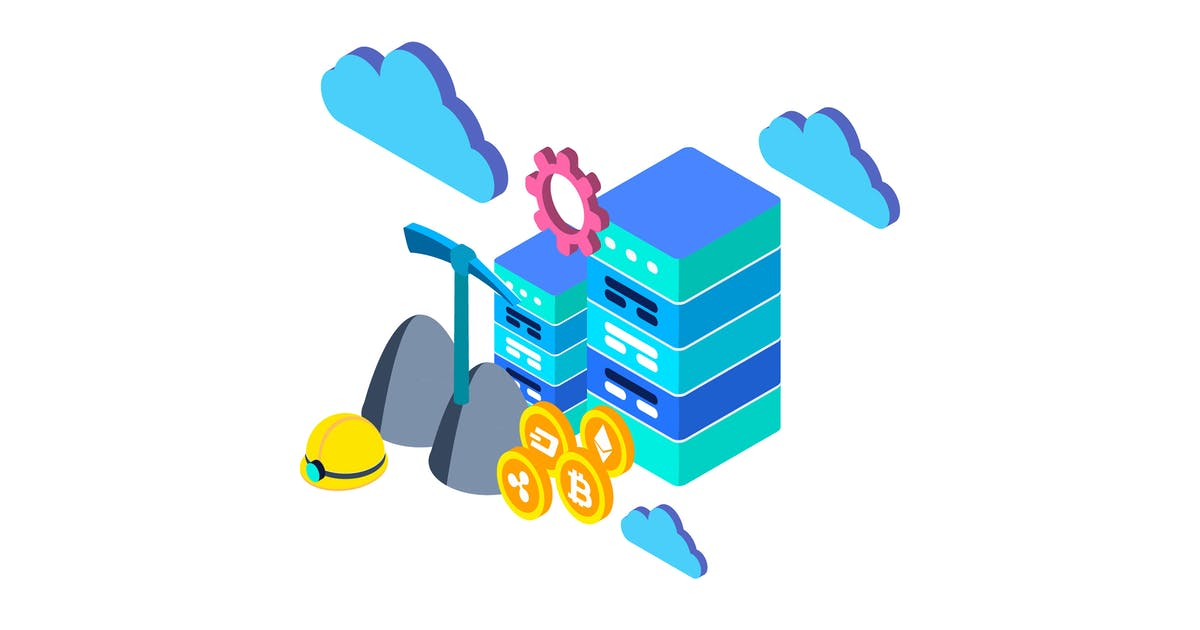 Download Cloud Mining Isometric Illustration by angelbi88