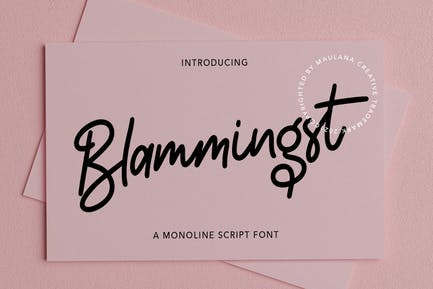 Blammingst Script Font