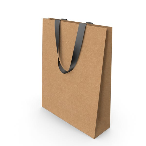 Craft Paper Bag with Black Handles