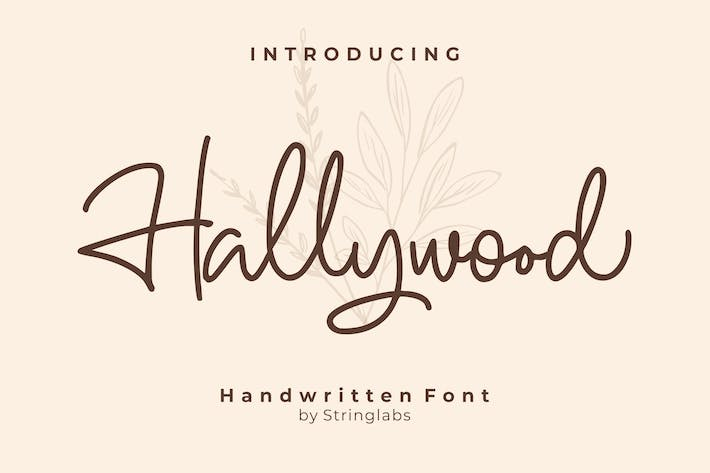 Thumbnail for Hallywood - Fuente de escritura manuscrita