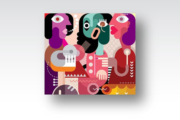 Thumbnail for Three Beautiful Women vector artwork
