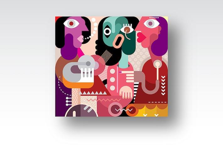 Thumbnail for Drei schöne Frauen Vektor Kunstwerk