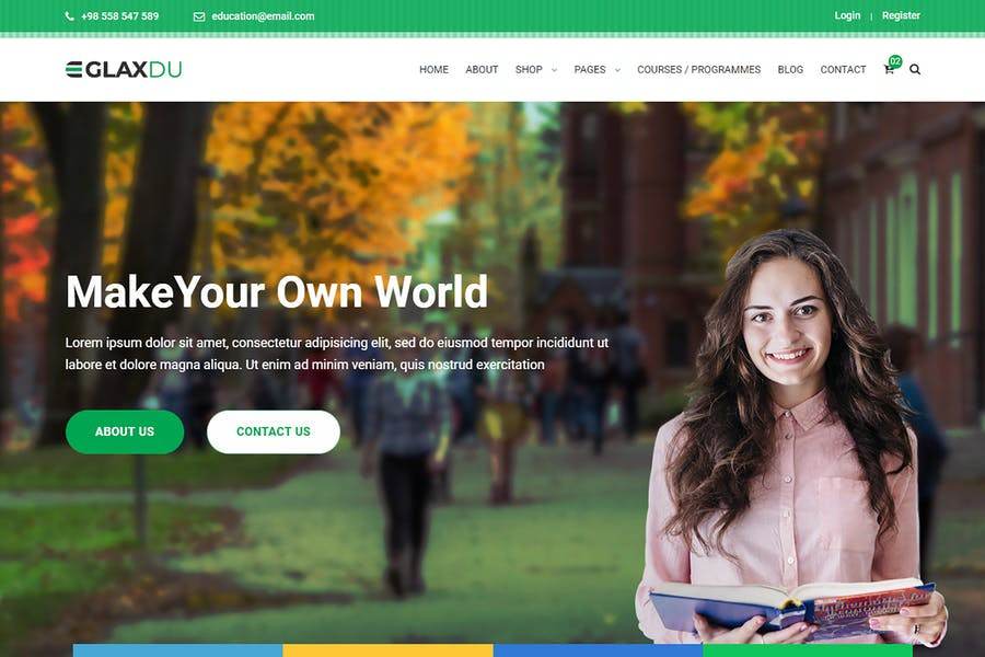 Glaxdu - Education HTML Template