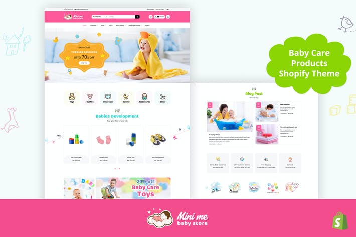 Thumbnail for Mini Me - Baby, Kids Care Products Shopify Theme