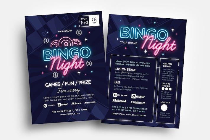 Bingo Flyer & Menu Templates