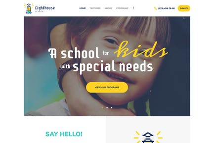 Lighthouse | School for Handicapped Kids WP Theme