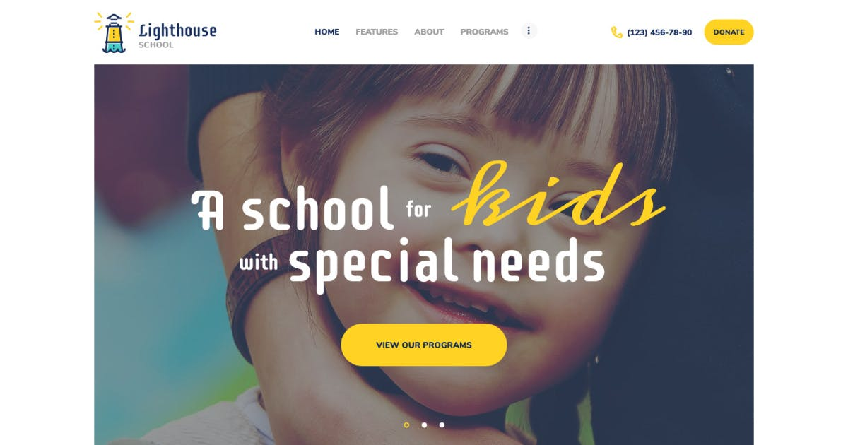 Download Lighthouse | School for Handicapped Kids WP Theme by AncoraThemes