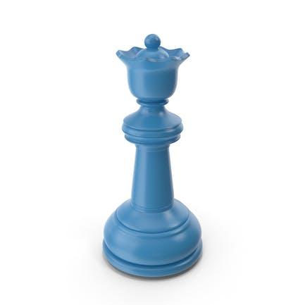 Schach Queen Blau