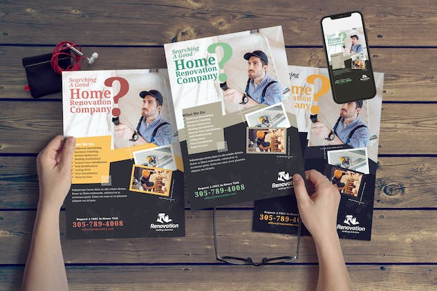 Home Renovation Flyer Template