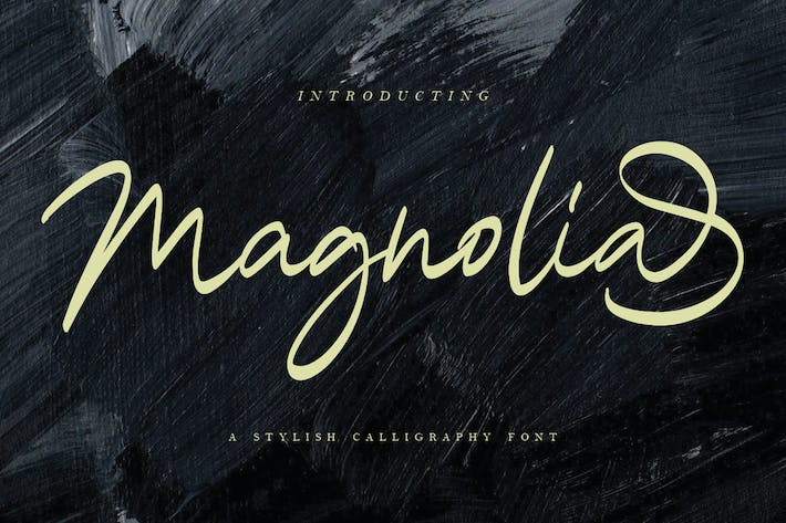 Thumbnail for Magnolia Calligraphy Font MS