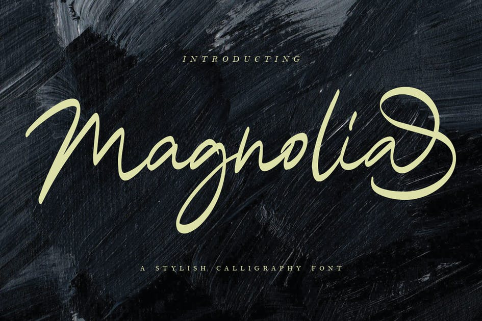 Download Magnolia Calligraphy Font by templatehere