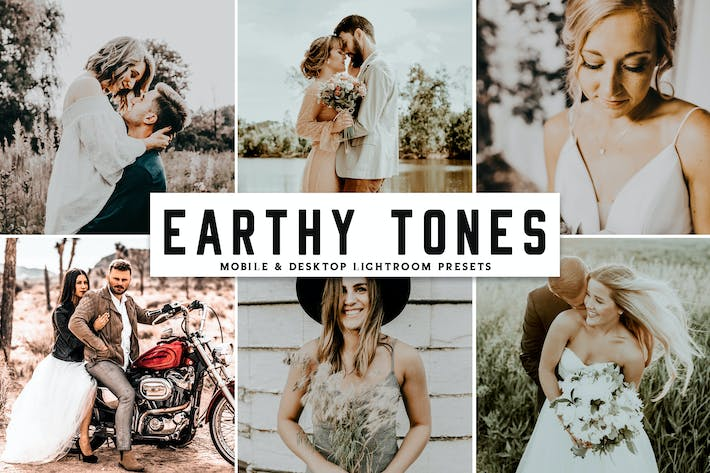 Thumbnail for Earthy Tones Mobile & Desktop Lightroom Presets