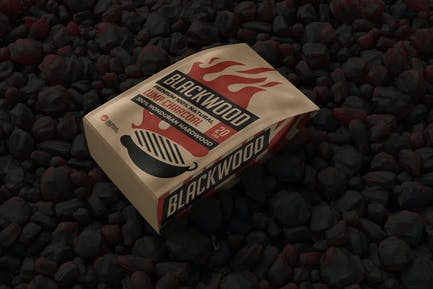 Grill Charcoal Bag Mockup